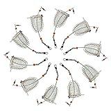 Croch 10 cestelli di alimentazione per carpe, adatto per pesca, alimentatore in acciaio inox