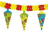 Toy - Girlande Schulanfang mit Schultüte, 4 Meter
