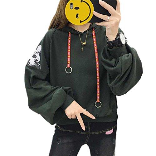 Babysbreath Felpe con cappuccio da uomo a manica lunga con pullover a manica lunga e pullover con maniche a soffietto verde # 1