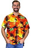 V.H.O. Funky Hawaiihemd, Kurzarm, Surf, orange, 5XL