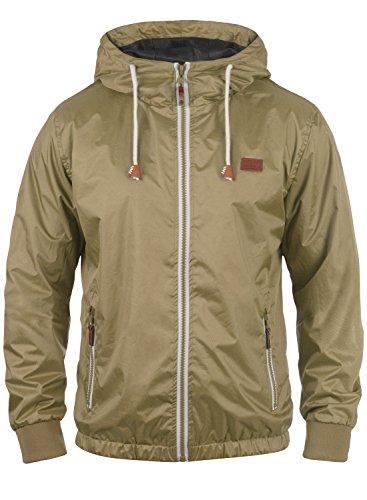 Blend Mats Herren Windbreaker Regenjacke Übergangsjacke mit Kapuze, Größe:M, Farbe:Safari Brown (75115)