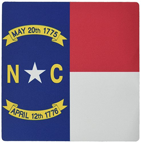 3dRose LLC 8 x 8 x 0.25 Inches Mouse Pad, Flag of North Carolina Nc Us American United State Of America Usa Red White Blue Great Seal