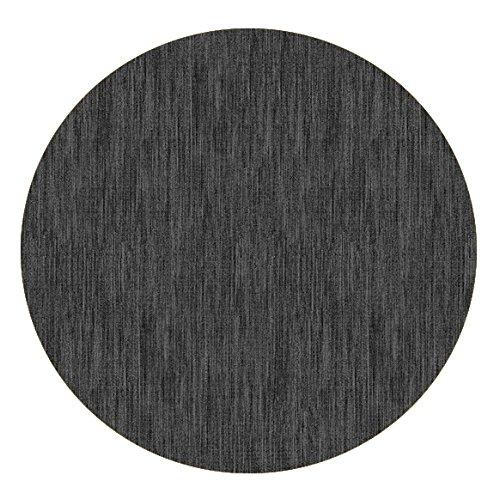 DecoHomeTextil Wachstuch Robuste Leinen Prägung Rund Oval Größe & Farbe wählbar Rund 80 cm Grau Anthrazit abwaschbare Tischdecke