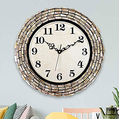 AYFC Stumm Schlafzimmer Uhr Mode kreative Heimat Uhr modernen minimalistischen Wohnzimmer wanduhr, 16 Zoll (Durchmesser 40,5 cm), geeignet for zuhause/büro/Schule Uhr