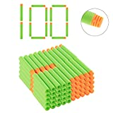 Riva776Yale 100 Stück Darts Pfeile Für Nerf N-Strike Elite Bullets Zubehör für Nerfs Nachfüll- Orange Kopf + Hellgrün Schwamm