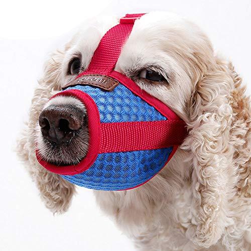 Maulkorb für Hunde Mundschutz Weiche, kuschelige Mundschutzmaske für Hunde Tragbare Anti-Bellen- und Beißmaschen,L - Weiches Hund Maul