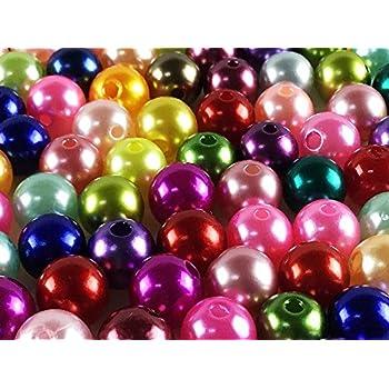 50 Perlen 8mm altgold 686 //// Kuststoffperlen Bastelperlen Drahtsterne Wachsperlen Perlenkette Kunstperlen