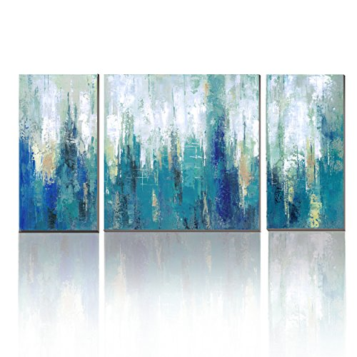 wesiator canvas pictures 3 panels blue abstract prints on canvas artwork wall art for any room for wall decor home decoration