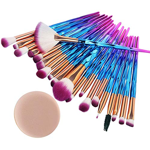 Daysing 20 pcs Make-up Pinsel-Sets Schminkpinsel Kosmetikpinsel Rougepinsel Augenbrauenpinsel...