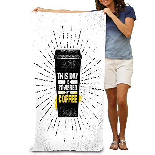 zexuandiy 100% Polyester Velvet Absorbent Bath Towel 31 X 51 inches Coffee Friends Make Perfect Blend Inspiring Cafe Decoration Creative Motivation quoteer Template Kitchen Art -