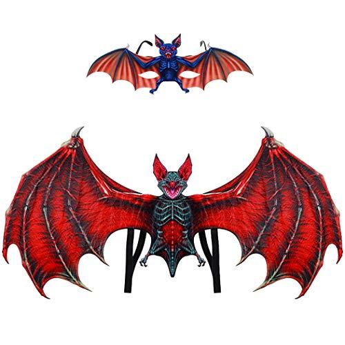 Joyibay 2PCS Kinder Ankleiden Flügel Vampir Fledermaus Kostüm Flügel mit Brille für Party