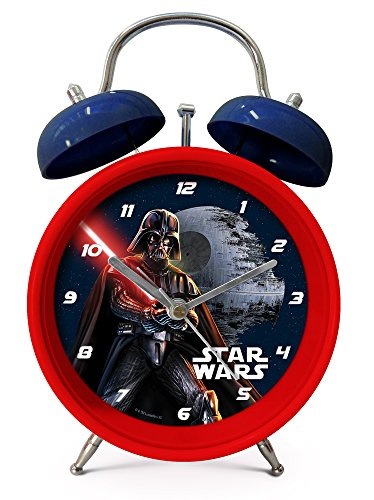 Star Wars Darth Vader despertador infantil (301777), 12 x 5,3 x 16,8 cm, colour rojo/azul