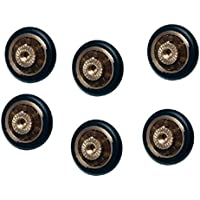 Ruedas con rodamientos para repuesto de mampara de ducha corrediza, 6 unidades, 20 mm de diámetro con tornillo M4. Tornillos incluidos