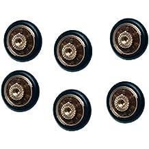 Ruedas con rodamientos para repuesto de mampara de ducha corrediza, 6 unidades, 20 mm