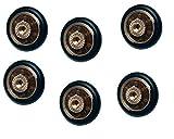 Rollen mit Kugellager für Drucker Duschkabine Duschabtrennung Dusche Schiebetür, 6Stück, 20mm Durchmesser mit Schraube M4. Schrauben