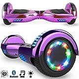 Magic Vida Skateboard Elettrico 6.5 Pollici Bluetooth Power 700W con Due Barre LED...