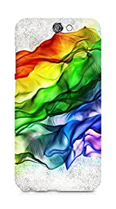 Amez designer printed 3d premium high quality back case cover for HTC One A9 (Silk colorful neon rainbow folds fluttering)