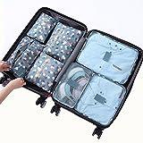 Cocogo 7 Set Sistema di Cubo di Viaggio - 3 Cubi di Imballaggio + 3 Sacchetti Borsa+ 1 Borsa portascarpe - Perfetto di Viaggio Dei Bagagli Organizzatore