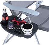 Clip On Camping Chair Side Table Outdoor Garden Fishing Beach Storage Tidy