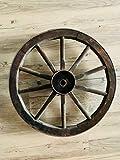 Shabby chic Wagenrad aus Holz, Einzelstück