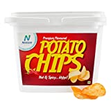 #7: Neelam Foodland Box Pack Premium Flavoured Hot & Spicy Potato Chips, 200g