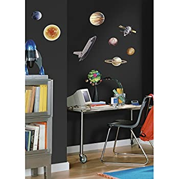 RoomMates Repositionable Childrens Wall Stickers   Space Travel