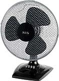 Tischventilator, Standventilator mit 3 Laufgeschwidigkeiten, ruhiger Lauf, verstellbarer Neigungswinkel + oszillierend, Ventilator auch zur Wandmontage, schwarz