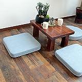 cuscini a forma quadrata/cuscino meditazione/inginocchiati.,stuoia di meditazione/finestra a bovindo mat/tatami stuoie,sala da tè tappetino pavimento-D 60x50cm(24x20inch)