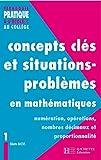 Image de Concepts clés et situations-problèmes en mathématiques (Pédagogie