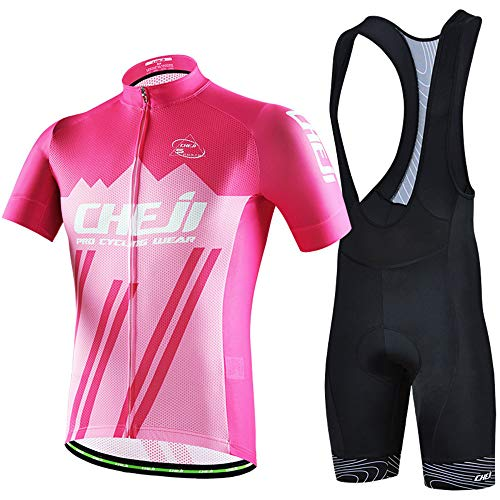 YDJGY Sommer Jersey Jumper Kurzarm Set, Sweat Breathable Herren Outdoor Mountain Bike Jersey Anzug - Mit Reißverschluss An Der Rückseite-jumper