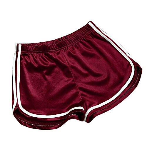 Amphia - Damen elastische Shorts mit hoher Taille,Frauen Sommer Casual Shorts Hosen Hohe Taille Sport Shorts