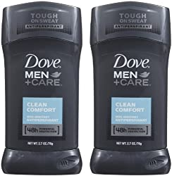 Dove Men+Care 48h Antiperspirant Deodorant Clean Comfort 2.7 oz. (Quantity of 6)