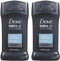 Dove Men+Care 48h Antiperspirant Deodorant Clean Comfort 2.7 oz. (Quantity of 6)