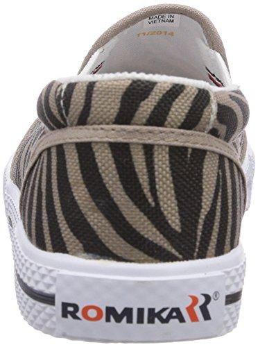 Romika - Laser Zebra, Scarpe da barca Donna Nero (Schwarz (schwarz-taupe 147))