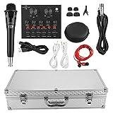 Denash Microfono a condensatore con Scheda Audio - Registrazione Echo Professionale Karaoke Singing per PC Computer Garageband Smule Live Stream