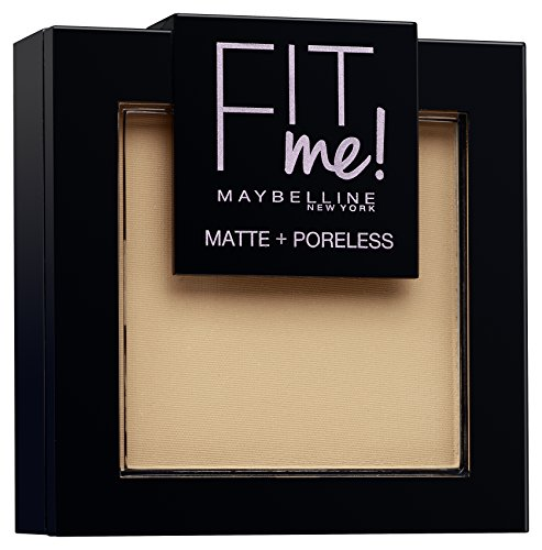 Maybelline Fit Me! Matte + Poreless Powder Nr. 220 Natural Beige, mattierendes Puder, passt sich dem Hautton an, lässt den Teint strahlen ohne die Poren zu verstopfen, für ein makelloses Finish, 9 g