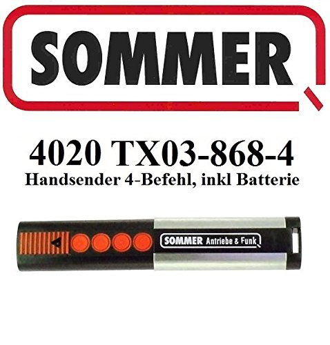 Swing Door Opener (Sommer 4020 TX03-868-4, 4-kanal handsender, 868,8Mhz Rolling code!!! Top Qualität original fernbedienung! 100% Kompatibel mit Sommer 4020, Sommer 4031 & Sommer 4025)