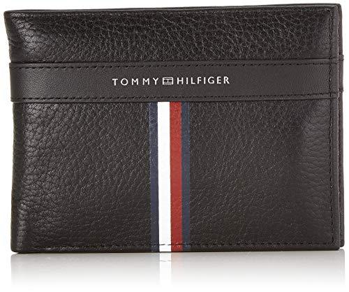 Tommy hilfiger corporate l extra cc and coin - portafogli uomo, nero (black), 1x1x1 cm (w x h l)