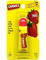 Carmex STRAWBERRY Moisturising Lip Balm Tube SPF 15 For Dry & Chapped Lips 10g