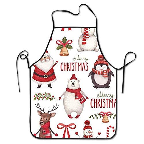 dfhfdshfdshsd dfhfd GrillschürzenSchürzenbevoicep Bib Apron Merry Christmas Kitchen Apron Waterproof for Cooking Chef Baker Servers BBQ Craft Men Or Women 20