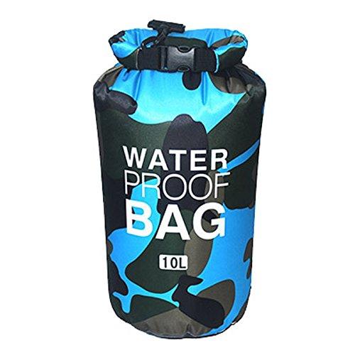 Youth Union wasserdichte Taschen 2L/5L/10L/15L/20L/30L wasserdichte trockene Beutel vervollkommnen für Kayaking/Bootfahrt/Kanu/Fischen/Rafting/Schwimmen/Kampieren/Snowboarding (Farbe 3, 10L) -