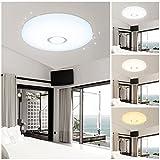 HG 50W LED Luz de techo Lámpara de techo Blanco Lámpara de pared Ronda Techo...