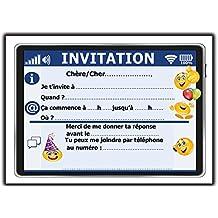 Carte invitation anniversaire fille 8 11 ans - Jeux de fille cuisine et patisserie gratuit en francais ...