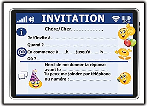 Carte D Invitation Anniversaire - invitation carte d'anniversaire fête en francais Lot