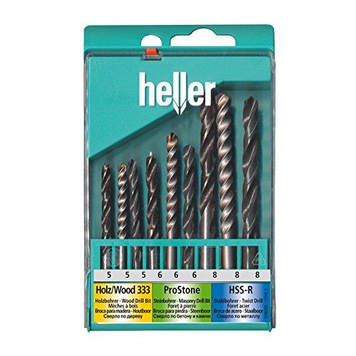 Preisvergleich Produktbild Heller Tools Universalkassette HSS, Holz und Stein Set 9-teilig, 3390-17741