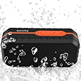 Sunvito Altavoz Bluetooth Portátil, Mini Altavoz Inalámbrico Impermeable al Aire Libre con Batería de 1800mAh (MIC,Entrada Auxiliar,USB,Tarjeta del TF) para iPhone,Samsung,Galaxy Note y más (Naranja)