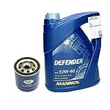 5 Liter Mannol Defender 10W-40 + Ölfilter
