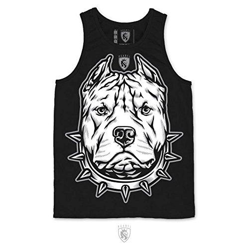 OGABEL OG Abel Men's Pitbull Tank Top Shirt Black L (Black Pitbull-t-shirts)