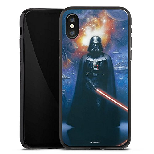Apple iPhone 5c Tasche Hülle Flip Case Star Wars Merchandise Fanartikel The Dark Side Silikon Case schwarz