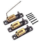 Monkeyjack 3pcs ponte tremolo roller sellini per ST TL Cigar box chitarra con chiave 10.8mm